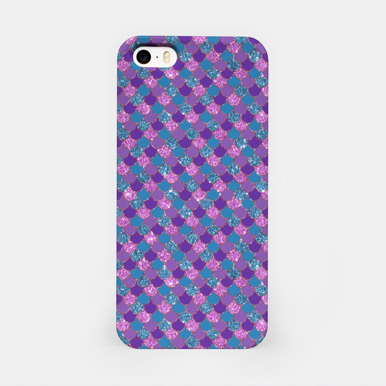 Imagen de Purple Aqua and Gold Glitter Mermaid Scales iPhone Case - Live Heroes