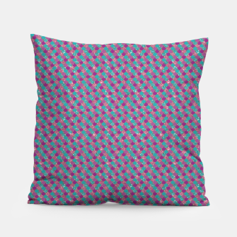 Purple Aqua and Gold Glitter Mermaid Scales Pillow imagen en miniatura