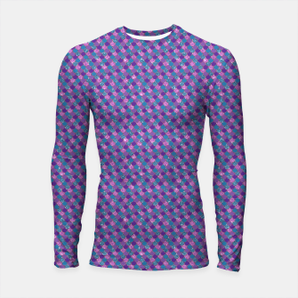 Purple Aqua and Gold Glitter Mermaid Scales Longsleeve rashguard  imagen en miniatura