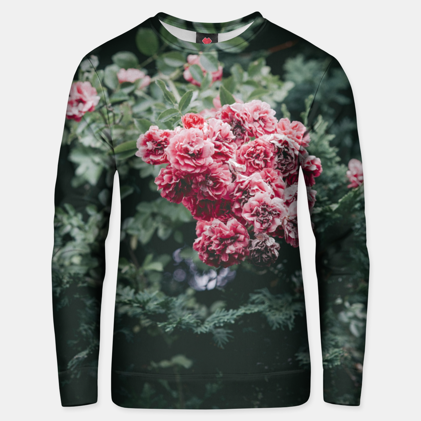 Image of Red flowers Bluza unisex - Live Heroes