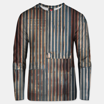 Thumbnail image of Fashion art of a Photo Pattern of a rusty iron texture Unisex sweater, Live Heroes
