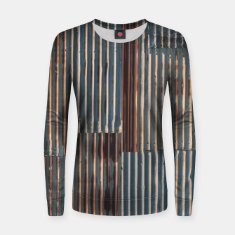 Thumbnail image of Fashion art of a Photo Pattern of a rusty iron texture Women sweater, Live Heroes