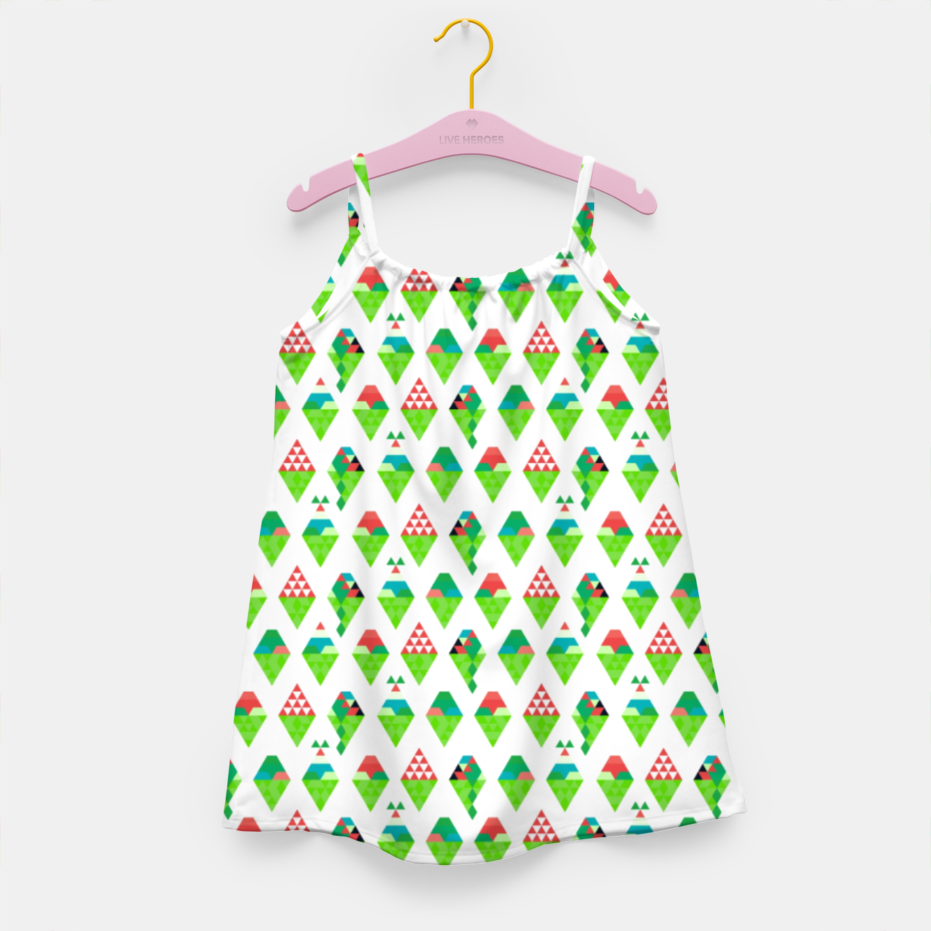 Image of Lucys Ice Cream Green – Girl's dress - Live Heroes