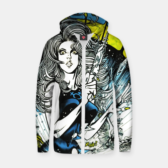 Miniaturka Fashion items of Barbarella comic magazine cover  illustration  Zip up hoodie, Live Heroes