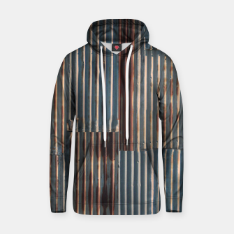 Thumbnail image of Fashion art of a Photo Pattern of a rusty iron texture Hoodie, Live Heroes