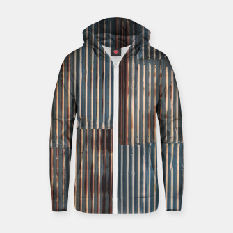 Thumbnail image of Fashion art of a Photo Pattern of a rusty iron texture Zip up hoodie, Live Heroes