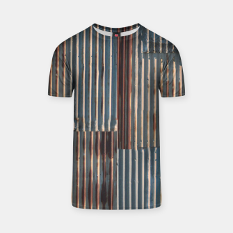 Thumbnail image of Fashion art of a Photo Pattern of a rusty iron texture T-shirt, Live Heroes