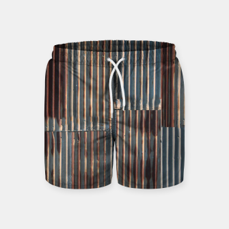Thumbnail image of Fashion art of a Photo Pattern of a rusty iron texture Swim Shorts, Live Heroes