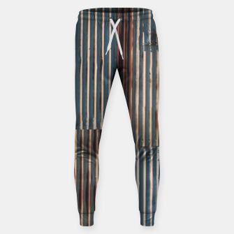 Thumbnail image of Fashion art of a Photo Pattern of a rusty iron texture Sweatpants, Live Heroes