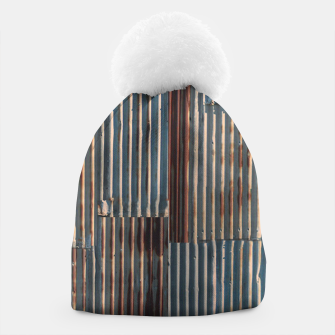 Thumbnail image of Fashion art of a Photo Pattern of a rusty iron texture Beanie, Live Heroes