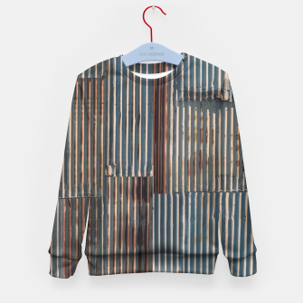 Thumbnail image of Fashion art of a Photo Pattern of a rusty iron texture Kid's sweater, Live Heroes