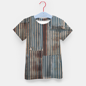 Thumbnail image of Fashion art of a Photo Pattern of a rusty iron texture Kid's t-shirt, Live Heroes