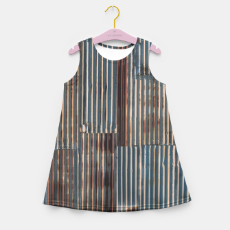Thumbnail image of Fashion art of a Photo Pattern of a rusty iron texture Girl's summer dress, Live Heroes