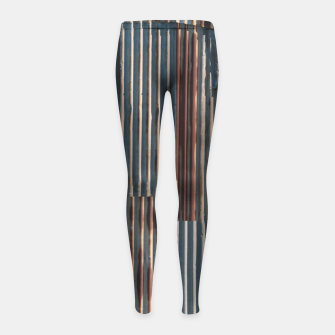 Thumbnail image of Fashion art of a Photo Pattern of a rusty iron texture Girl's leggings, Live Heroes