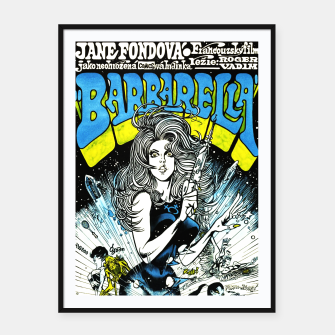 Miniaturka Fashion items of Barbarella comic magazine cover  illustration  Framed poster, Live Heroes