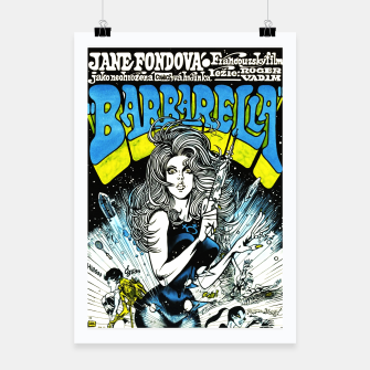 Miniaturka Fashion items of Barbarella comic magazine cover  illustration  Poster, Live Heroes