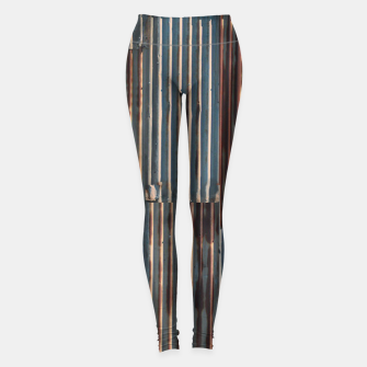 Thumbnail image of Fashion art of a Photo Pattern of a rusty iron texture Leggings, Live Heroes