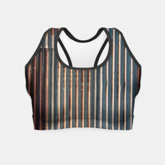 Thumbnail image of Fashion art of a Photo Pattern of a rusty iron texture Crop Top, Live Heroes