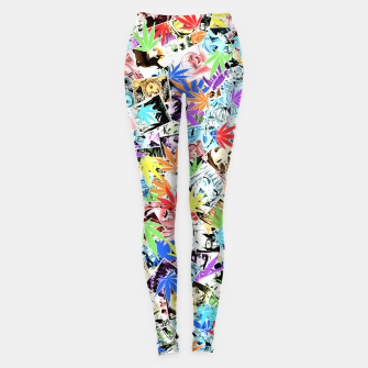 Weed Ahegao Leggings miniature
