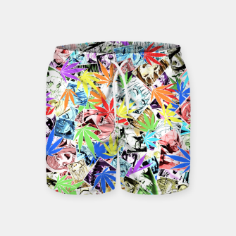 Weed Ahegao Swim Shorts miniature