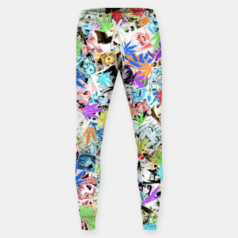 Weed Ahegao Sweatpants miniature