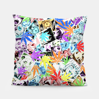 Weed Ahegao Pillow miniature
