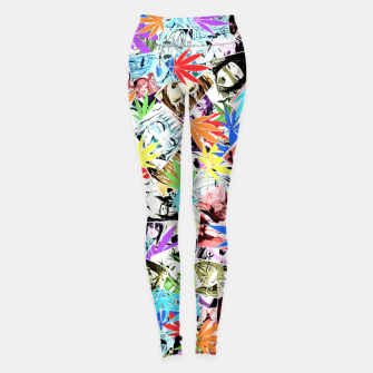 Thumbnail image of Weed Ahegao Leggings, Live Heroes