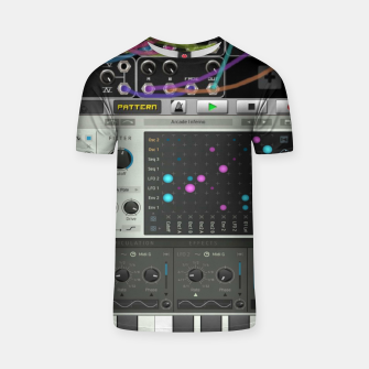 Fashion art of a Collage of VSTi's And Digital music production  T-shirt thumbnail image