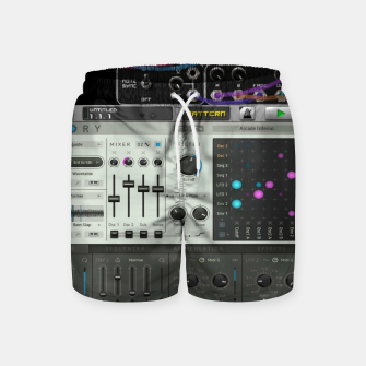 Fashion art of a Collage of VSTi's And Digital music production  Swim Shorts thumbnail image