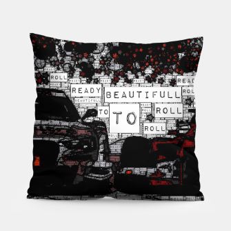 Thumbnail image of Fashion art of car words Pillow, Live Heroes