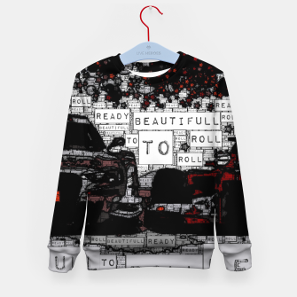 Thumbnail image of Fashion art of car words Kid's sweater, Live Heroes