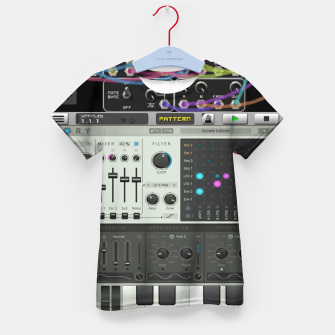 Fashion art of a Collage of VSTi's And Digital music production  Kid's t-shirt thumbnail image