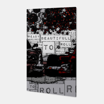 Fashion art of car words Canvas thumbnail image