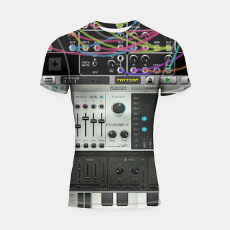 Fashion art of a Collage of VSTi's And Digital music production  Shortsleeve rashguard thumbnail image