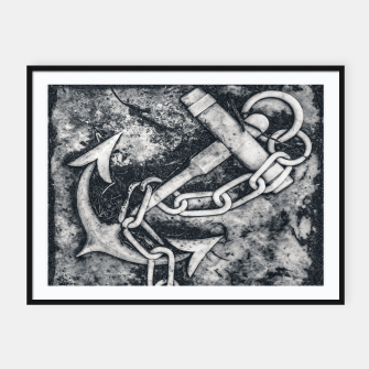 Thumbnail image of Anchor Sculpture Photo Framed poster, Live Heroes