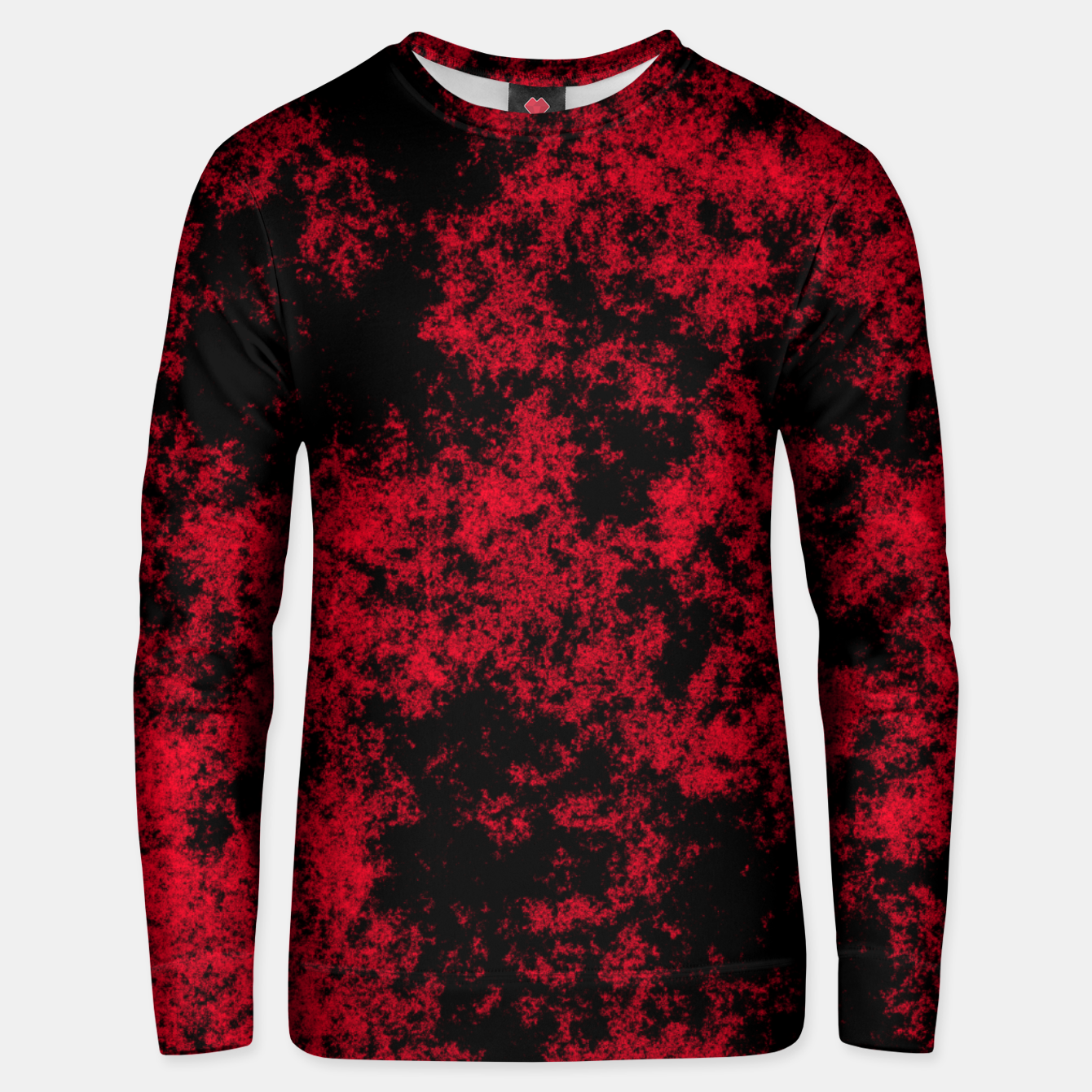 Image of Pattern Texture Noir/Rouge Unisex pull - Live Heroes