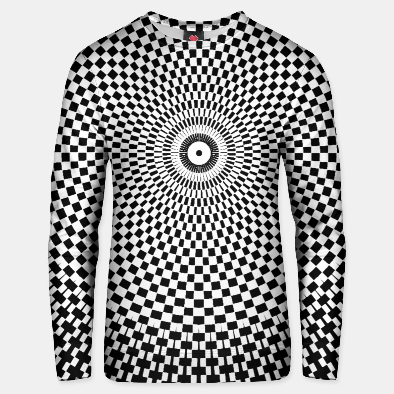 Image of Fashion art and decor items of a circular Mandala Pattern Unisex sweater - Live Heroes