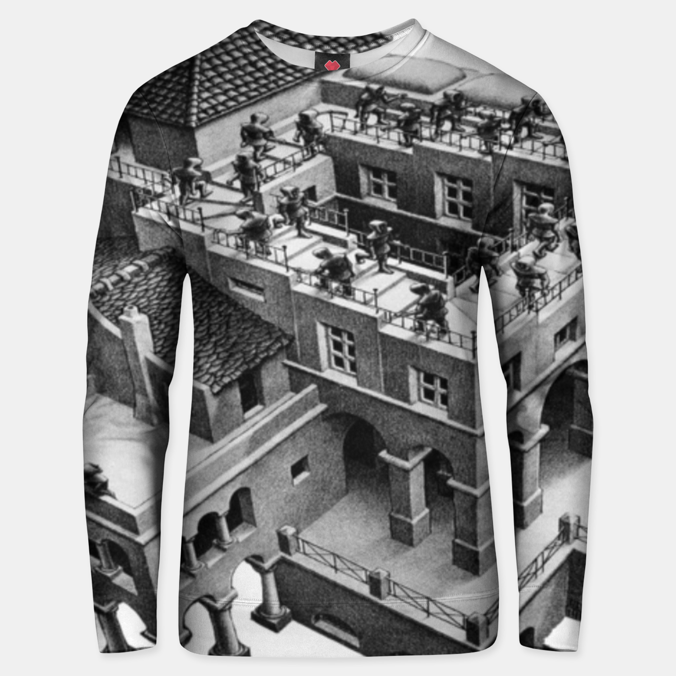 Image of Fashion items of MC Escher Impossible Architecture Painting Unisex sweater - Live Heroes