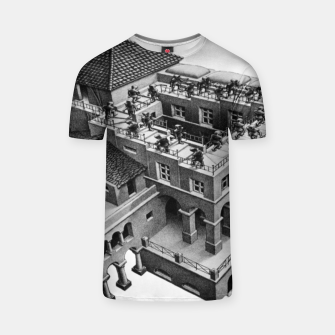 Thumbnail image of Fashion items of MC Escher Impossible Architecture Painting T-shirt, Live Heroes
