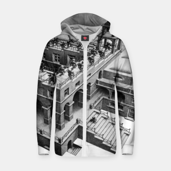 Thumbnail image of Fashion items of MC Escher Painting impossible castle Zip up hoodie, Live Heroes