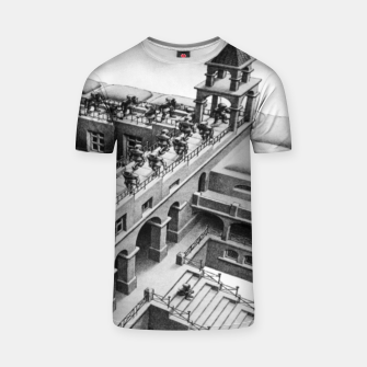 Thumbnail image of Fashion items of MC Escher Painting impossible castle T-shirt, Live Heroes