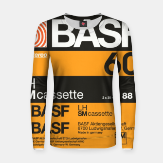 Thumbnail image of Fashion items of Cassette Tape BASF 60 Women sweater, Live Heroes