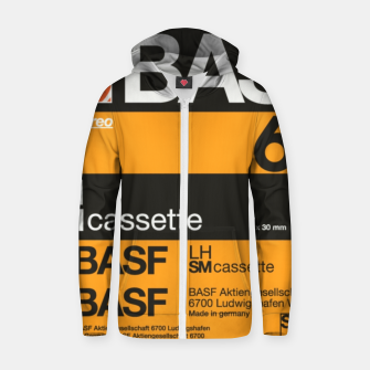 Thumbnail image of Fashion items of Cassette Tape BASF 60 Zip up hoodie, Live Heroes