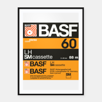 Thumbnail image of Fashion items of Cassette Tape BASF 60 Framed poster, Live Heroes