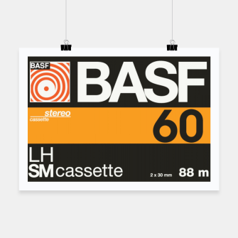 Thumbnail image of Fashion items of Cassette Tape BASF 60 Poster, Live Heroes