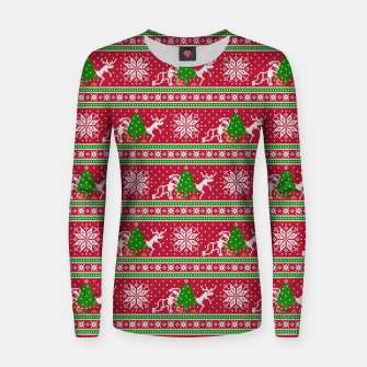 Thumbnail image of Bad Santa and his deer Women sweater, Live Heroes