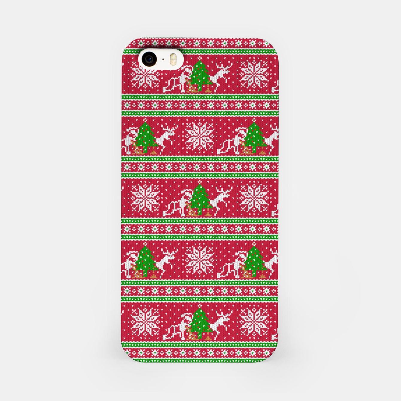 Image de Bad Santa and his deer iPhone Case - Live Heroes