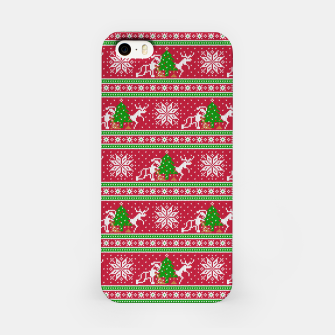 Bad Santa and his deer iPhone Case thumbnail image
