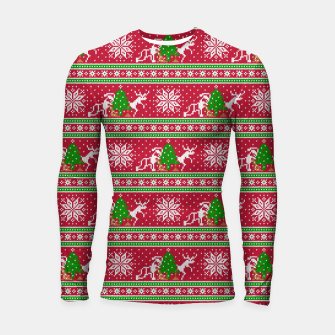 Thumbnail image of Bad Santa and his deer Longsleeve rashguard , Live Heroes