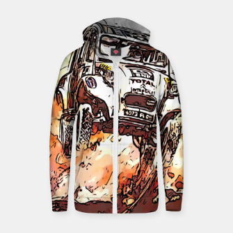 Thumbnail image of Fashion items of Advertising Poster by Citroen 2cv Zip up hoodie, Live Heroes